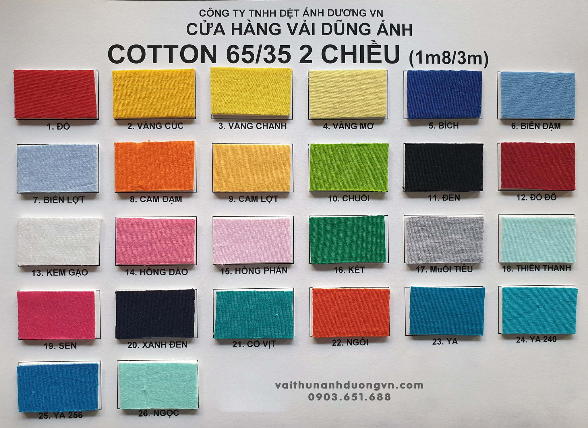 Kết quả hình ảnh cho vải cotton 65/35 4 chiều