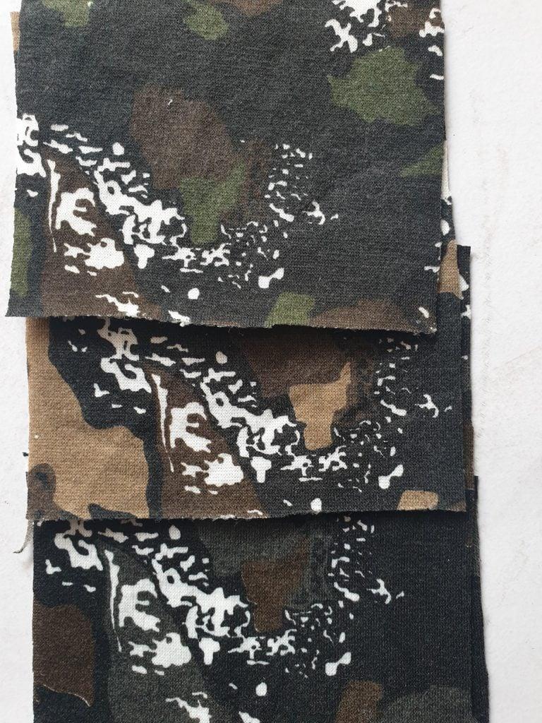 vải in rằn ri may quần