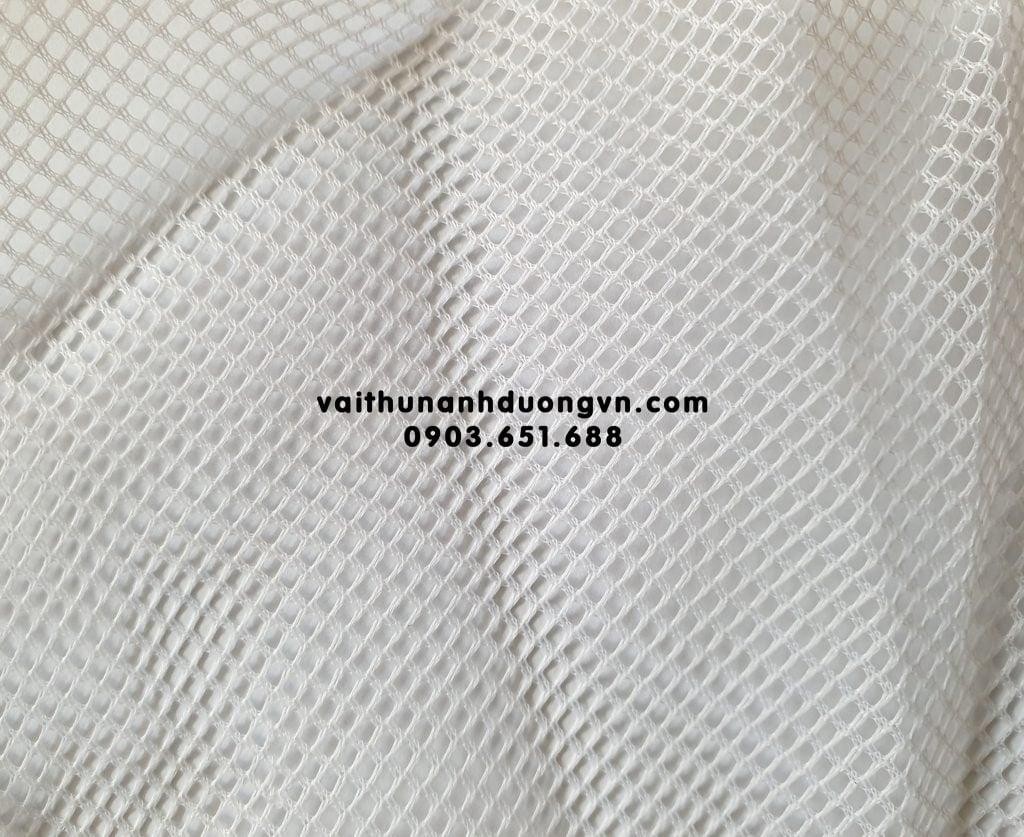 Vải lót lưới áo khoác, áo gió trắng