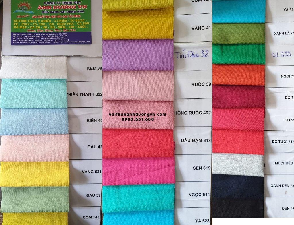 Vải da cá cotton 100% 4 chiều
