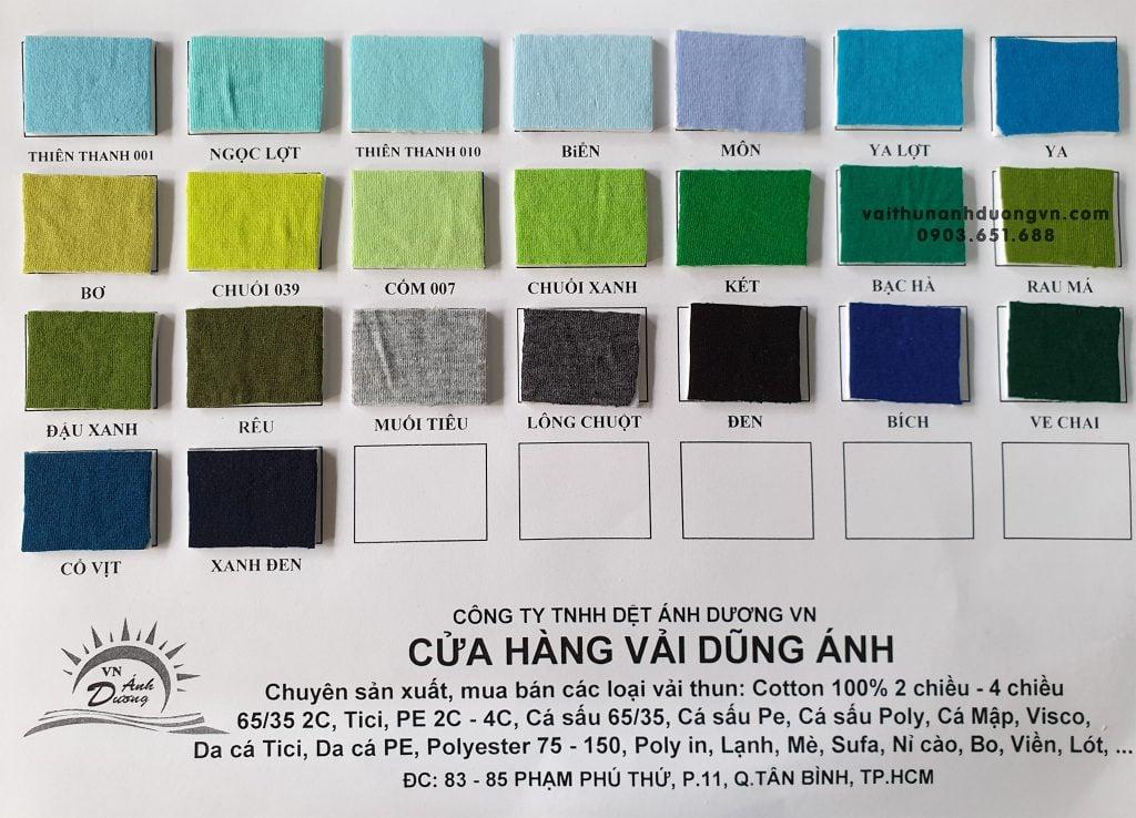vải thun tici 30, 65/35 4 chiều giá rẻ