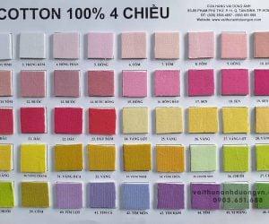 vải thun cotton 4 chiều single