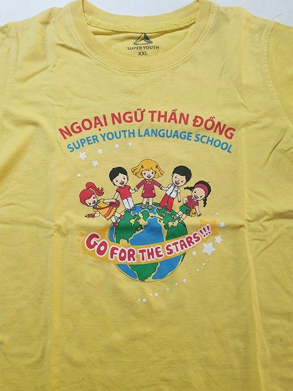 vải áo thun nhóm lớp ngoại ngữ