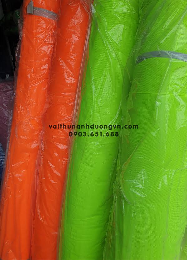 vải lưới dạ quang may đồ bảo hộ lao động, áo phao