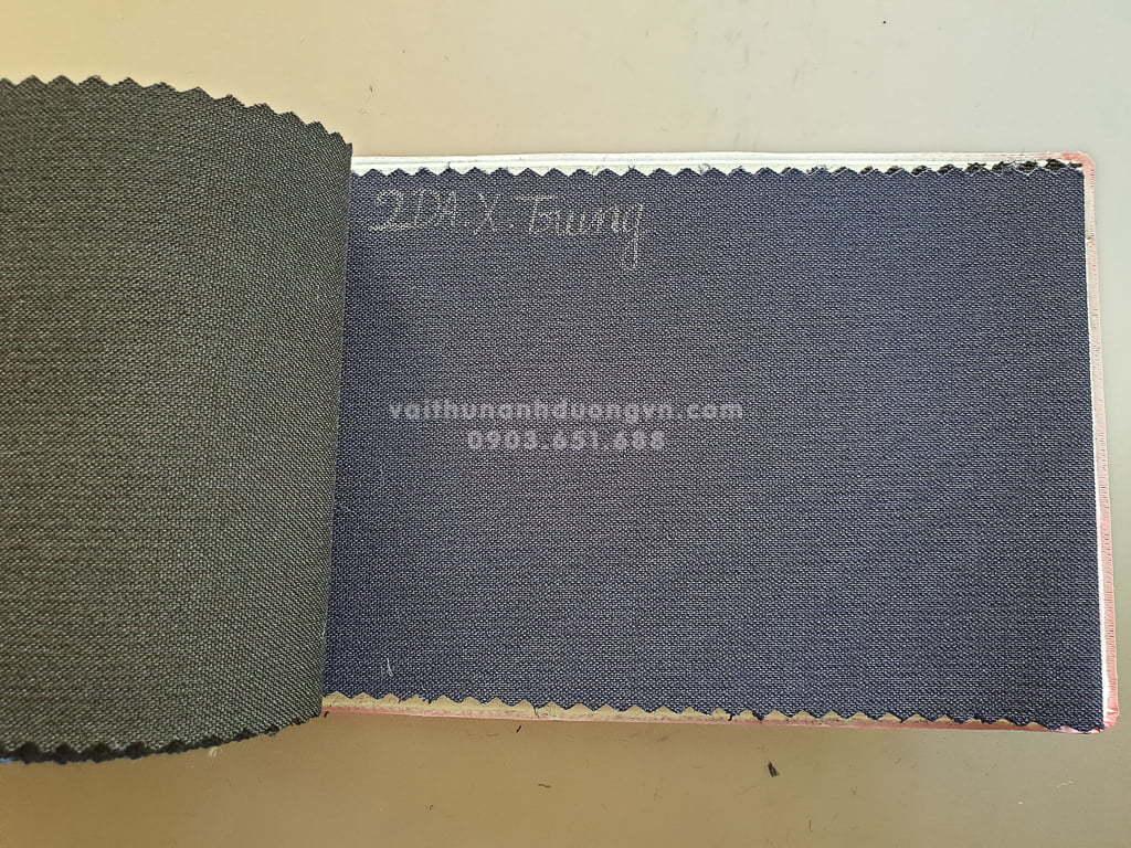 vải 2 da may quần xanh trung