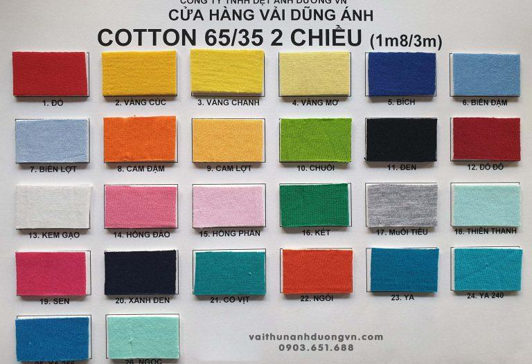 Vải Thun 65/35 2 Chiều