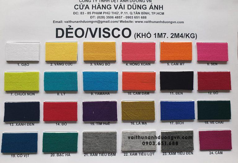 Vải Thun Dẻo (Visco)