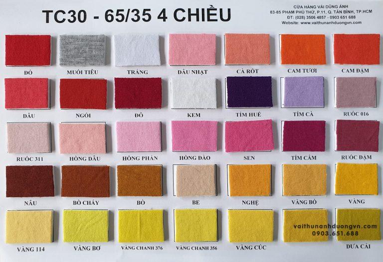 Vải Thun Tici 65/35 4 Chiều