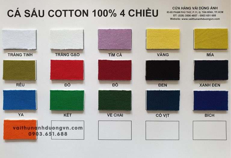 Vải Cá Sấu Cotton 4 Chiều